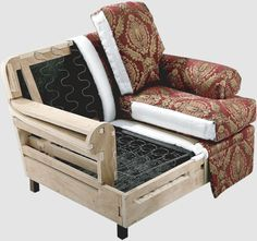 Inside a couch frame construction next sofas are tested for Best quality upholstered furniture