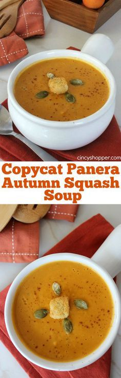 """This CopyCat Panera Autumn Squash Soup was """"Over the Top"""" delicious! Perfect fall soup. Plus saved $$s by making at home."""
