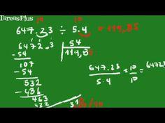 división de números decimales forma corta Decimal, Shapes, Studio