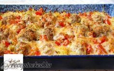 Érdekel a receptje? Kfc, Hawaiian Pizza, Macaroni And Cheese, Casserole, Food And Drink, Lunch, Meat, Breakfast, Ethnic Recipes