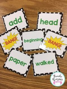 Learning is more fun and engaging when you can tie it to a game. I created this super fun and easy to implement sight word game called BANG!...