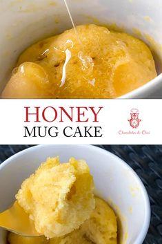 Microwave Mug Recipes, Mug Cake Microwave, Microwave Desserts, Microwave Food, Delicious Cake Recipes, Yummy Cakes, Honey Recipes, Baking Recipes, Easy Desserts