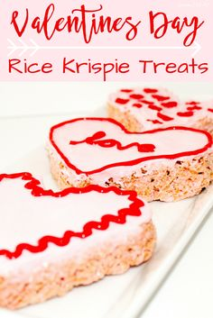 Valentine's Day Rice Krispie treats are the perfect diy snacks to make as a family activity or to give. Make the heart shaped rice crispy treat and decorate with pink or red frosting.
