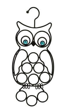 Boston Warehouse Scarf Holder, Black Owl