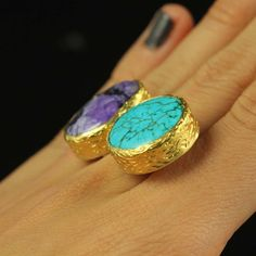 Double Stone Ring, £45, now featured on Fab.