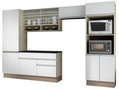 Cozinha Compacta Madesa Glamy Top Modena - com Balcão 9 Portas 2 Gavetas