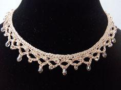Bridal Necklace Swarovski Ivory Vintage Necklace by DesignByIrenne