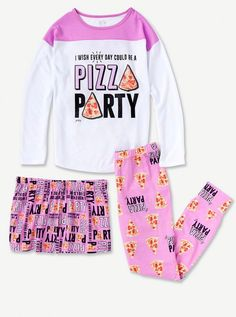 Girls Faded Glory Pajamas Purple One of a Kind