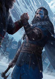 Fantasy Male, Fantasy Rpg, Medieval Fantasy, Dark Fantasy, Fantasy Portraits, Character Portraits, Fantasy Artwork, Viking Art, Viking Warrior