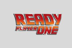 Ready Player One logo (with a Back to the future look). Designed for products on sale at Society6.com/demm/