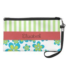 Your Name Stripes Flowers Green Blue White Red Wristlet In our offer link above you will seeDiscount Deals          Your Name Stripes Flowers Green Blue White Red Wristlet Here a great deal...