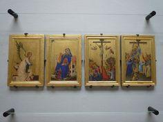 Simone Martini - Polittico portatile Orsini, dettaglio (Annunciazione, Crocifissione, Deposizione) - 1333 - Musée des Beaux-Arts d'Anvers (Belgique)