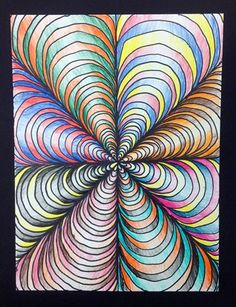 6th Grade-Op Art Kids would like doing this.  @DeMaris Henderson-Gaunt Henderson-Gaunt Henderson-Gaunt Cleland - thought of you!