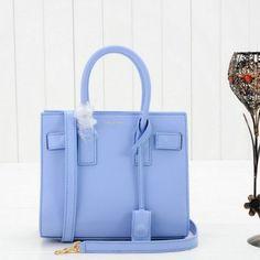 af3adf798cf1 2014 Yves Saint Laurent Mini Sac De Jour Tote 23668 in Light Blue