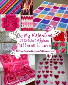 With Be My Valentine Crochet: 39 Crochet Afghan Patterns to Love, you'll never run out of ideas for Valentine's Day. From heart crochet patterns to basic red and pink crochet afghans, these free patterns are all about options.