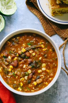 Vegetarian Roasted Poblano and White Bean Chili | Joanne Eats Well With Others Vegetarian Roast, Vegetarian Cookbook, Vegetarian Appetizers, Vegetarian Recipes, White Bean Chili, No Bean Chili, White Beans, Fast Healthy Meals, Easy Healthy Recipes