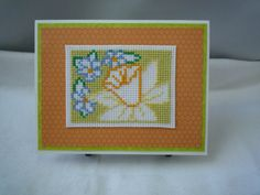 A Sign Of Spring, Hand Stitched Card by HMCrafters on Etsy