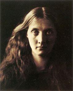 "My niece Julia full face. Depicts Julia Duckworth, nee Jackson, niece of Julia Margaret Cameron. Albumen print, 253 x 201mm (10 x 7 7/8"").April 1867"