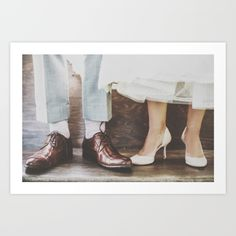 Vintage Swing Couple Shoes Art Print