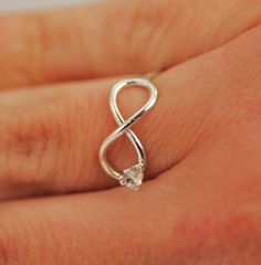 ON SALE Infinity Ring  Promise Ring  by TheJewelryGirlsPlace, $27.96