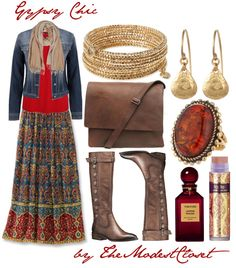 """""""Gypsy Chic"""" by themodestcloset ❤ liked on Polyvore"""