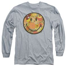 """Checkout our #LicensedGear products FREE SHIPPING + 10% OFF Coupon Code """"Official"""" Smiley World / Floral Face-long Sleeve Adult 18 / 1-athletic Heather-sm - Smiley World / Floral Face-long Sleeve Adult 18 / 1-athletic Heather-sm - Price: $29.99. Buy now at https://officiallylicensedgear.com/smiley-world-floral-face-long-sleeve-adult-18-1-athletic-heather-sm"""