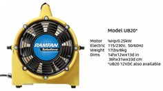 Ramfan | Euramco Safety | UB20 Confined Space Blower