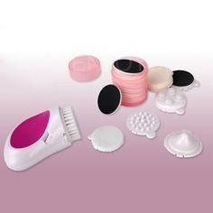 7 em 1 elétrica Cleaner Rosto Beleza Cuidados com a pele Limpeza Kit Massageador Facial # D2