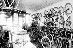 Ferodowill bicycle repair shop, 86 Seventh Street, St. Paul.  Photograph Collection 1899   Location no. HF5.8 r21   Negative no. 68036