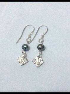 Fine Silver Drops with Fresh Water Pearls e412ddfd2f838