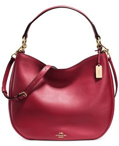 COACH NOMAD HOBO IN GLOVETANNED LEATHER - COACH - Handbags & Accessories - Macy's