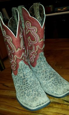 WOMENS ARIAT QUICKDRAW LEOPARD COWGIRL BOOTS SIZE 8 B. FREE SHIP IN US in Clothing, Shoes & Accessories, Women's Shoes, Boots | eBay