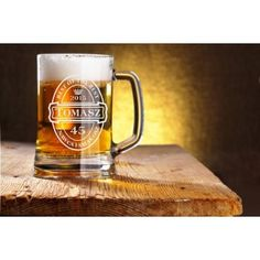 Kufel szklany 300ml  z Twoim indywidualnym grawerem