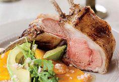 Carré d'agneau épicé sur salade de roquette à l'orange #paques #brunch #agneau