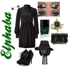 Wicked - Elphaba Inspired Outfit, created by naomiclarke95 on Polyvore
