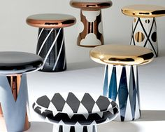 "jaime hayon designs ceramic table and sculptures for bosa - absolutely gorgeous and the epitome of the ""accent"" piece:)"