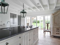 The French House Ham Interiors, Henley On Thames- love the armoire Interior Design And Build, Office Interior Design, Interior Design Services, Kitchen Interior, New Kitchen, Interior Decorating, Kitchen Stuff, Interior Paint, Interior Ideas