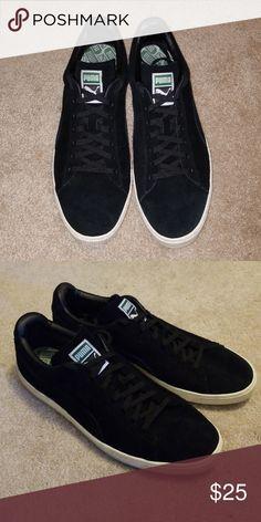 45ed6cb3b10080 Puma Black Suede Shoes Black sued. Barely worn. Black Puma Shoes Sneakers Black  Puma
