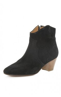 The western-inspired Dicker Boots ($635) from Isabel Marant Étoile embody the line's boho yet edgy roots. #isabelmarant #etoile #dickerboot #western #booties