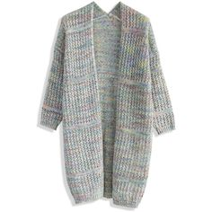 Chicwish Delish Candy Knitted Cardigan in Grey (66 CAD) ❤ liked on Polyvore featuring tops, cardigans, grey, holiday cardigan, gray open front cardigan, holiday tops, special occasion tops and grey top