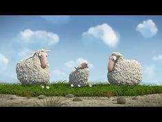 """The lamb's parents are shocked, because their little lamb doesn't sound like the other sheep: Instead their little lamb is saying """"Mooo"""" instead of """"Baaa! Happy Spring Day, Short Film Youtube, Film Gif, Wordless Book, Drawing Conclusions, Motion Video, Cool Animations, Sound Design, Photoshop"""