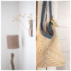 pretty crocheted bag inspiration
