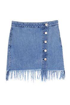 3x1 Asymmetrical Fringe Skirt, $225; 3x1.us