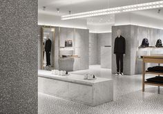 Valentino flagship store - 5th Ave NYC / terrazzo, marble, brass / designed by David Chipperfield