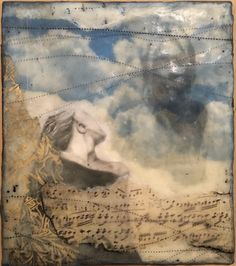 """""""Poke Holes in My Sky. You're Never Coming Back."""" x encaustic mixed media Mixed Media, My Arts, Sky, People, Painting, Fictional Characters, Heaven, Heavens, Paintings"""