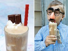 Easy Kids Drink Recipes - The Salted Caramel Monkey Entertainer + A Licorice Straw #kids #parties #birthday #science