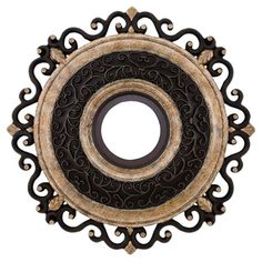 Found it at Wayfair - Capri Ceiling Medallion in Sterling Walnut