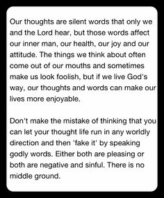It's all about our thoughts!