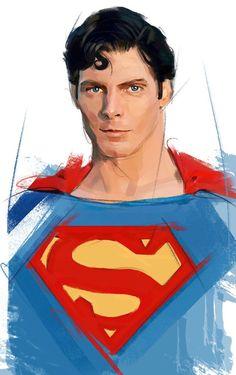 "thelastsonsofkrypton: "" Superman / Christopher Reeve / Tribute by TheFrisbeeman "" Superman Hair, Superman Love, Batman Vs Superman, Superman Photos, Marvel Comics, Action Comics 1, Christopher Reeve, Lex Luthor, Clark Kent"