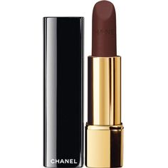 CHANEL ROUGE ALLURE VELVET Luminous Matte Lip Colour (£26) ❤ liked on Polyvore featuring beauty products, makeup, lip makeup, lipstick, chanel, glossy lipstick, pencil lipstick, lip gloss makeup and chanel lipstick